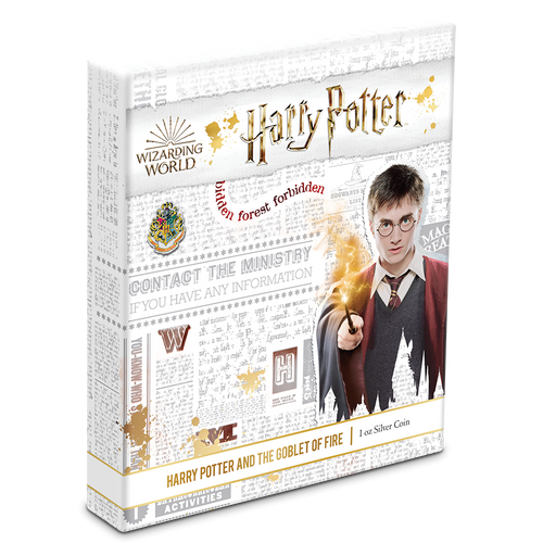 HARRY POTTER™ Movie Poster - Harry Potter and the Goblet of Fire™ 1oz Silver Coin Packaging