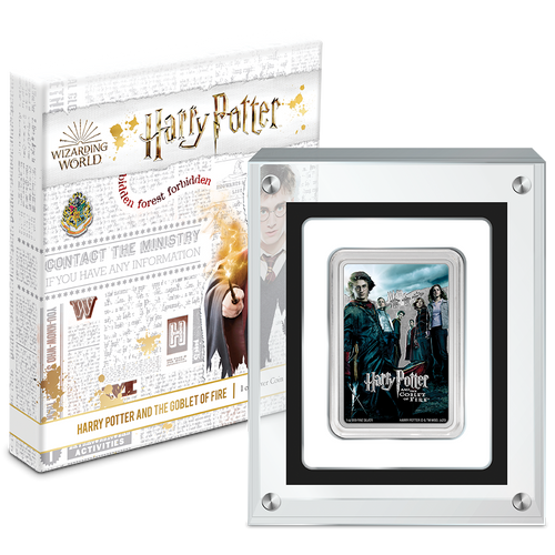 HARRY POTTER™ Movie Poster - Harry Potter and the Goblet of Fire™ 1oz Silver Coin in Perspex
