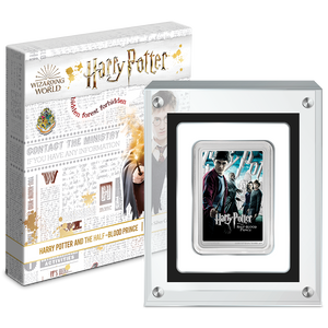 HARRY POTTER™ Movie Poster - Harry Potter and the Half-Blood Prince™ 1oz Silver Coin in Magnetic Perspex Display Case and Outer Box