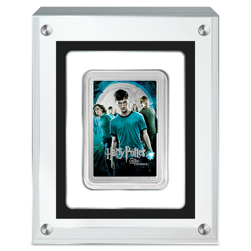 HARRY POTTER™ Movie Poster - Harry Potter and the Order of the Phoenix™ 1oz Silver Coin in Perspex