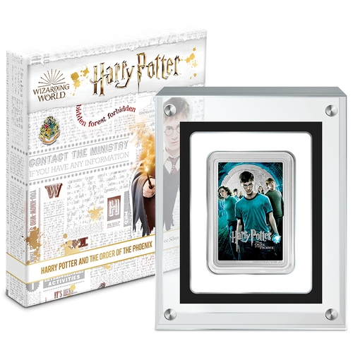 HARRY POTTER™ Movie Poster - Harry Potter and the Order of the Phoenix™ 1oz Silver Coin in Perspex Display Case