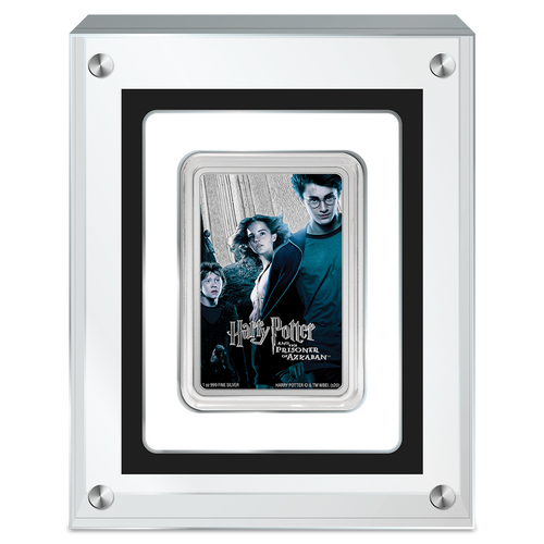 HARRY POTTER Classic Poster- Prisoner of Azkaban 1oz Silver Coin in Perspex Packaging