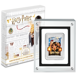 HARRY POTTER™ Classic Poster - The Sorcerer's Stone 1oz Silver Coin Packaging