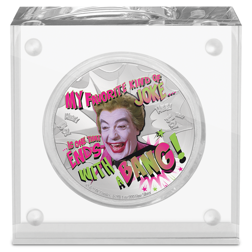 BATMAN™ '66 - THE JOKER™ 1oz Silver Coin Display