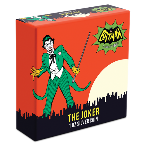 BATMAN™ '66 - THE JOKER™ 1oz Silver Coin Box