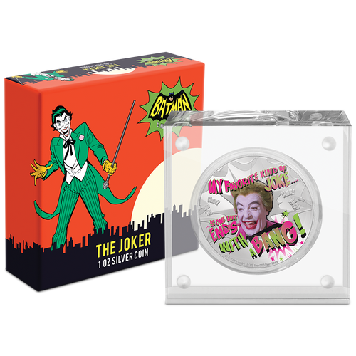 BATMAN™ '66 - THE JOKER™ 1oz Silver Coin Packaging