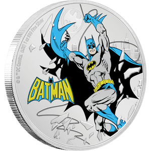 JUSTICE LEAGUE™ 60th Anniversary - BATMAN™ 1oz Silver Coin