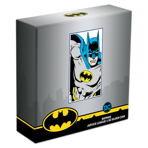 JUSTICE LEAGUE™ 60th Anniversary - BATMAN™ 1oz Silver Coin Box