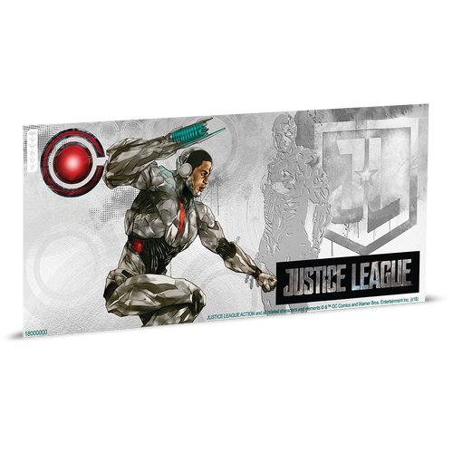 Justice League Series - CYBORG™ 5g Silver Coin Note