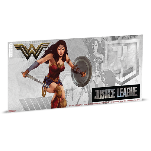 Justice League Series - WONDER WOMAN™ 5g Silver Coin Note