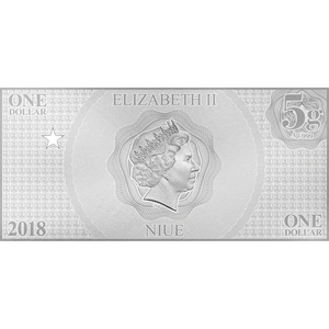 Justice League Series - WONDER WOMAN™ 5g Silver Coin Note Obverse