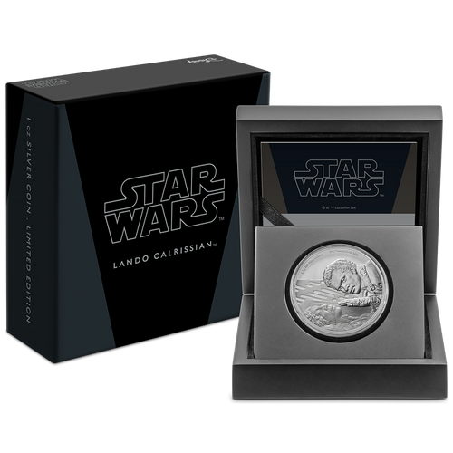 Star Wars Classic: Lando Calrissian™ 1oz Silver Coin Packaging