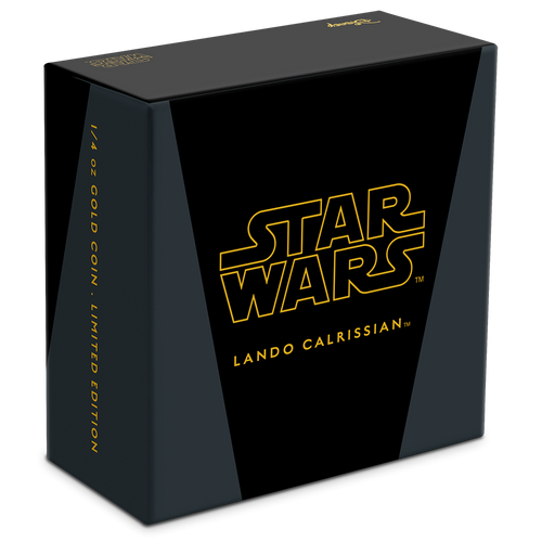 Star Wars Classic: Lando Calrissian™ 1/4oz Gold Coin Box
