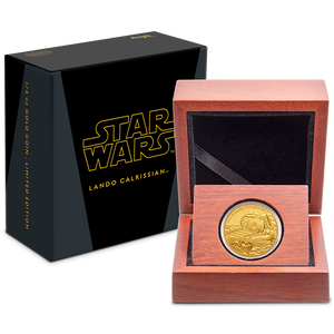 Star Wars Classic: Lando Calrissian™ 1/4oz Gold Coin Packaging