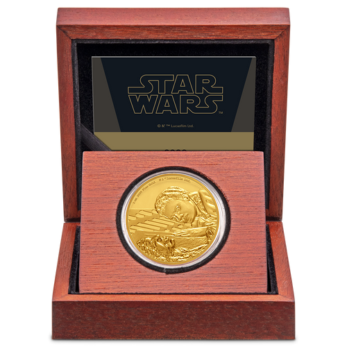Star Wars Classic: Lando Calrissian™ 1oz Gold Coin Display