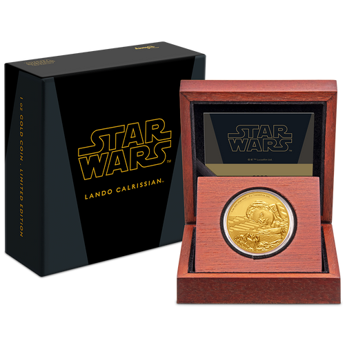 Star Wars Classic: Lando Calrissian™ 1oz Gold Coin Packaging