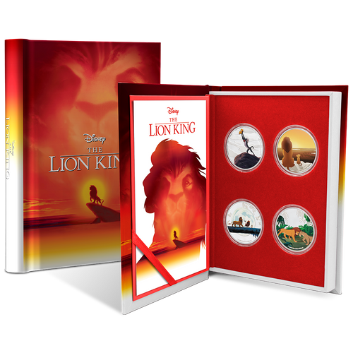 The Lion King 4x1oz Silver Coin Set Packaging