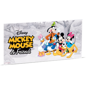 Mickey Mouse & Friends 5g Silver Coin Note