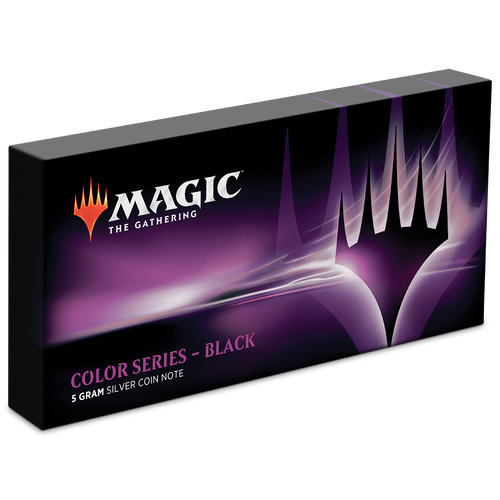 Magic: The Gathering Color Series - Black 5g Silver Coin Note Box