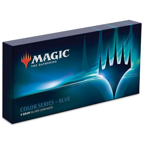 Magic: The Gathering Color Series - Blue 5g Silver Coin Note Box