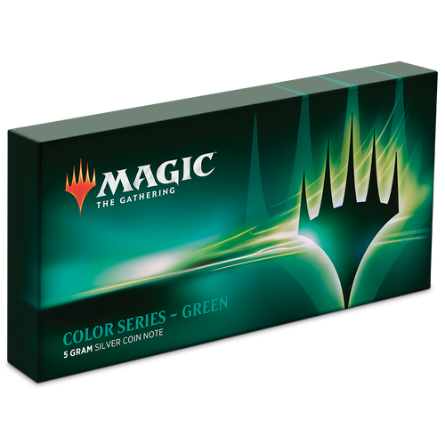 Magic: The Gathering Color Series - Green 5g Silver Coin Note Box