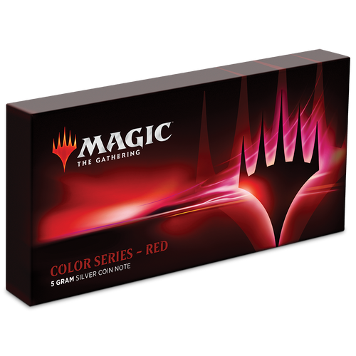 Magic: The Gathering Color Series - Red 5g Silver Coin Note Box