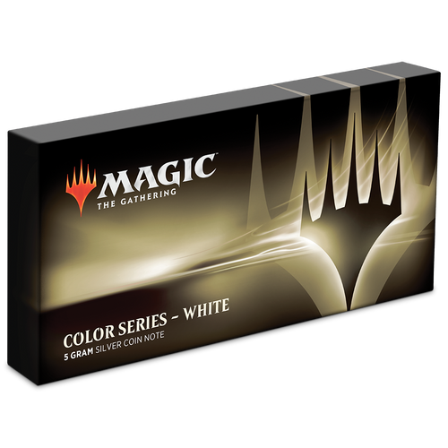 Magic: The Gathering Color Series - White 5g Silver Coin Box