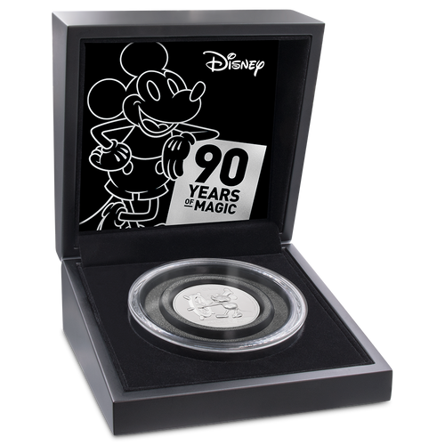 Mickey Mouse 90th Anniversary Ultra High Relief 2oz Silver Coin