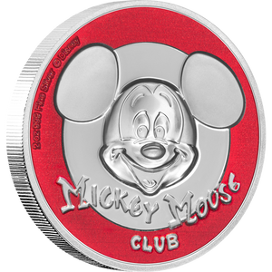 Disney Mickey Mouse Club Ultra High Relief 2oz Silver Coin