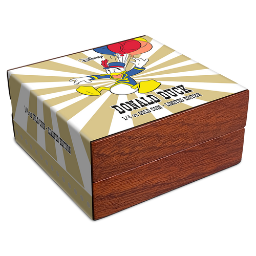 Mickey Mouse & Friends Retro Carnival - Donald Duck 1/4oz Gold Coin Box