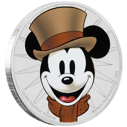 Mickey's Christmas Carol 1oz Silver Coin NZ Mint