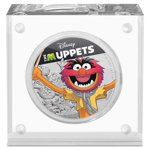 Disney: The Muppets - Animal 1oz Silver Coin Display