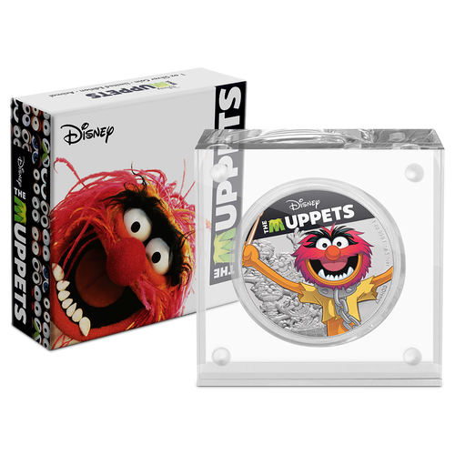 Disney: The Muppets - Animal 1oz Silver Coin Packaging