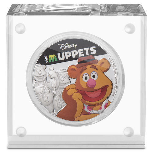 Disney: The Muppets - Fozzie Bear 1oz Silver Coin Display