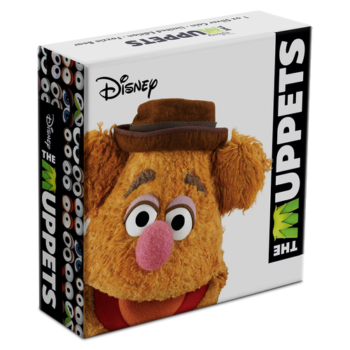 Disney: The Muppets - Fozzie Bear 1oz Silver Coin Box
