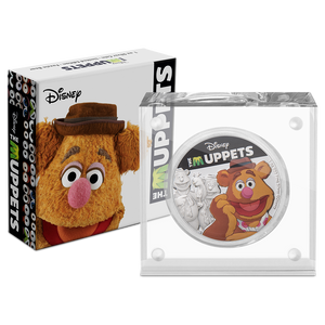 Disney: The Muppets - Fozzie Bear 1oz Silver Coin Packaging