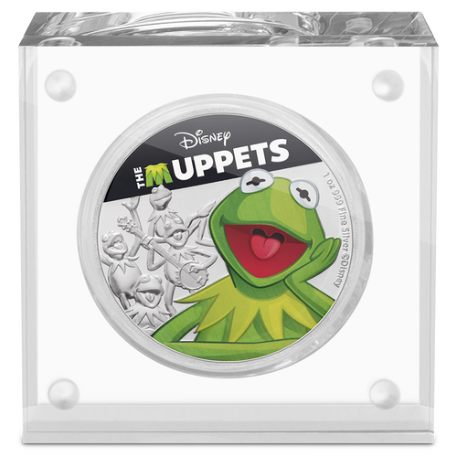 Disney: The Muppets - Kermit the Frog 1oz Silver Coin Display