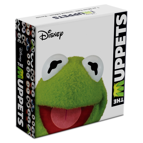 Disney: The Muppets - Kermit the Frog 1oz Silver Coin Box