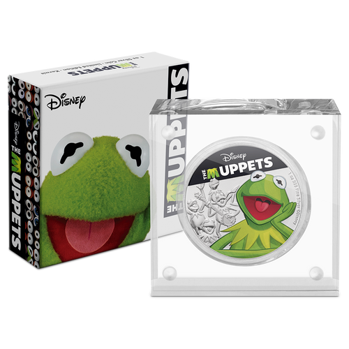 Disney: The Muppets - Kermit the Frog 1oz Silver Coin Packaging
