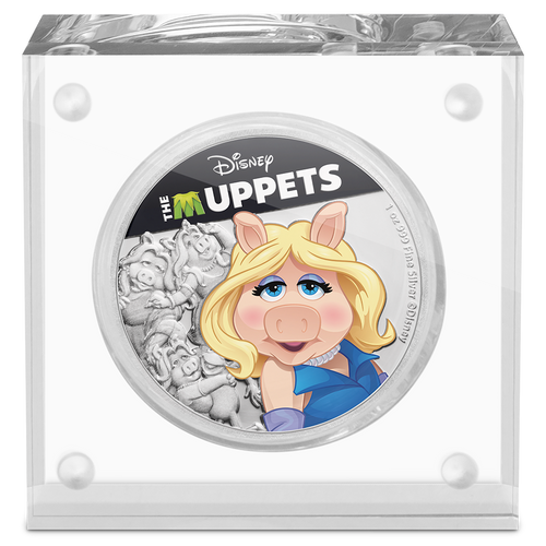 Disney: The Muppets - Miss Piggy 1oz Silver Coin Display