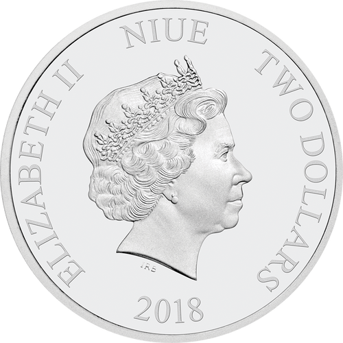 Doctor Who 2018 1oz Silver Coin Obverse