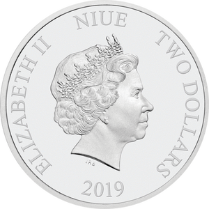 Ian Rank-Broadley Effigy of Queen Elizabeth II $2 Niue 2019 Obverse