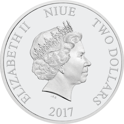 Ian Rank-Broadley Effigy of Queen Elizabeth II $2 Niue 2017 Obverse