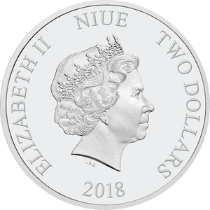 Ian Rank-Broadley Effigy of Queen Elizabeth II $2 Niue 2018 Obverse