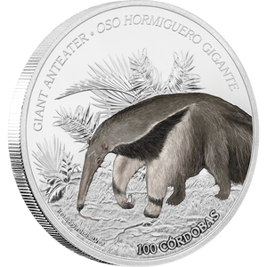 Wildlife of Nicaragua - Giant Anteater 1oz Silver Coin
