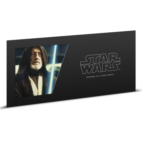 Star Wars: A New Hope - Obi-Wan Kenobi™ 5g Silver Coin Note Sleeve