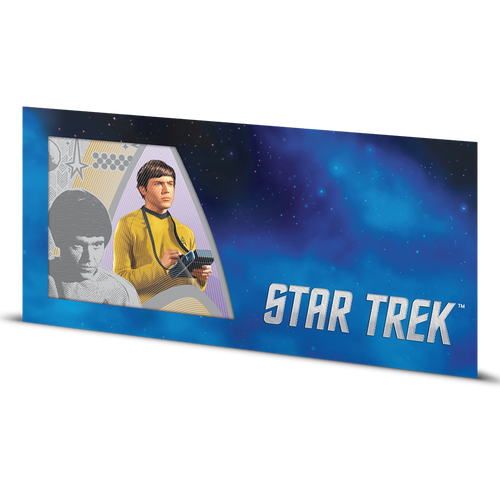 Star Trek Original Series - Ensign Pavel Chekov 5g Silver Coin Note Sleeve