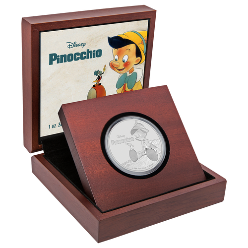 Disney: Pinocchio 1oz Silver Coin Display