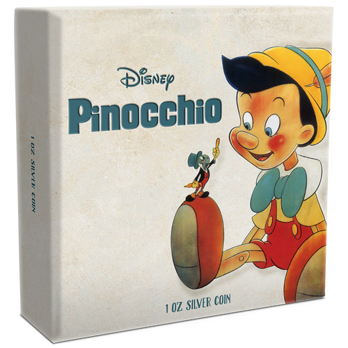 Disney: Pinocchio 1oz Silver Coin Box