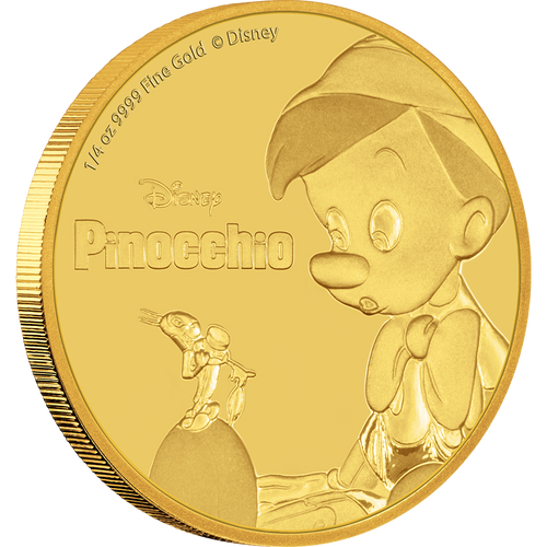 Pinocchio 1/4oz Gold Coin